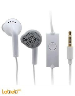 Samsung earphones - with microphone - white color - EHS61ASFWE