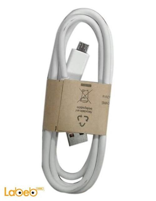 White Samsung note 3 charge cable