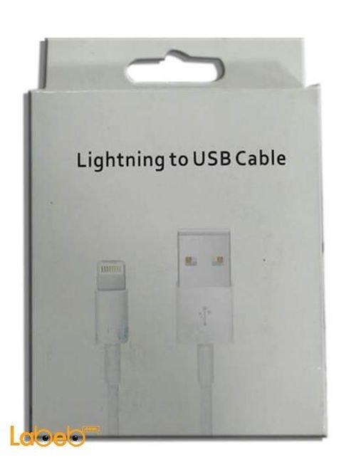 وصلة شحن لايتنينج مناسبة لايفون 5 ابيض USB data cable