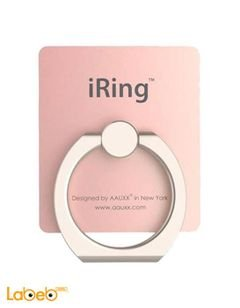 Iring mobile hook - safe and secure grip - 360 - rose gold color