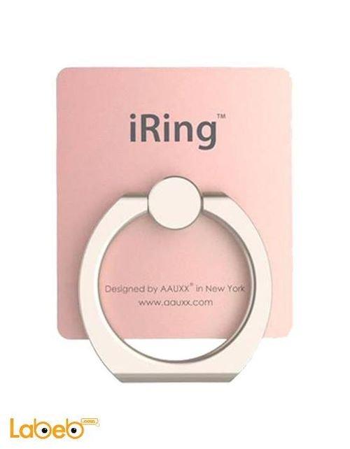 Iring mobile hook safe and secure grip 360 rose gold color