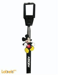 Selfie stick - AUX jack - Mickey mouse - Black color