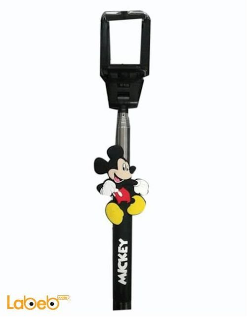 Black AUX selfie stick with mickey mouse picture
