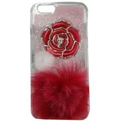Iphone 6S protective case - Pink color - Red rose - Red kush