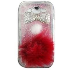 Galaxy S3 protective case - Pink with Shining stones silver kush