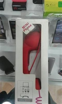 Home phone style - headphone compatible with all devices - Red color