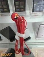 Red Micro USB Cable with Angry Bird Design