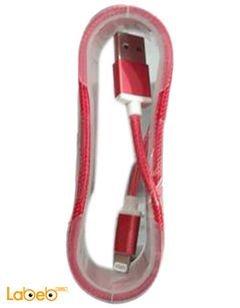 وصلة شحن ايفون 5 - لايتنينج - لون احمر - USB data cable