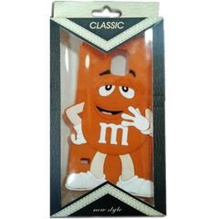Samsung galaxy note 3 back case - m&m's picture - orange color
