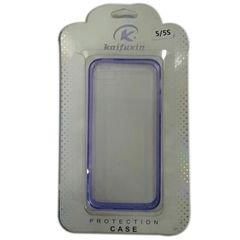 غطاء كايفوكسن قوي المعدن - لايفون 5  - لون شفاف مع خط ارجواني