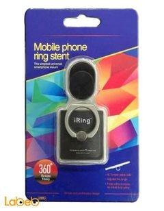 تعليقة اي رينغ للموبايل - تثبت الهاتف باحكام - 360 درجة - اسود