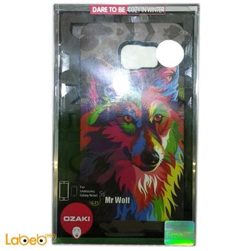 Ozaki  note 5 back cove multi colors mr wolf