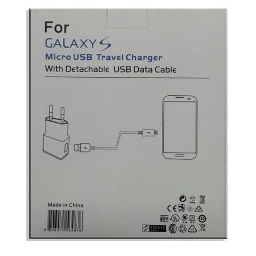 white Samsung galaxy S charger cable