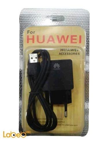 شاحن هواوي - كابل معلومات مع عظمة شحن - مدخل USB - لون اسود
