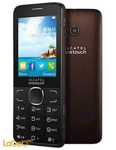 Alcatel 2007 mobile - 16MB - 2.4inch - brown color - 2007 D