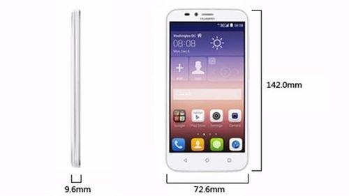 أبعاد موبايل هواوي Y625 لون أبيض Huawei Y625