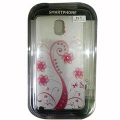 mobile Back cover - for samsung note 3 - white and pink color