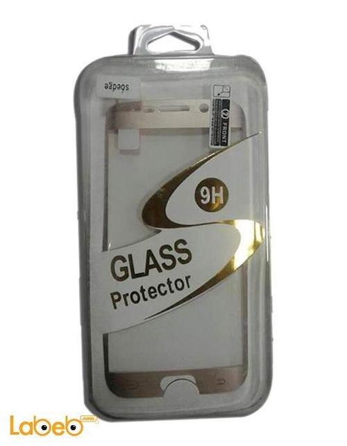واقي الشاشة جلاكسي S6 ادج ذهبي تصميم 9 اتش