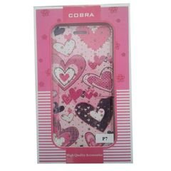 Cobra mobile cover - suitable for huawei ascend P7 - pink color