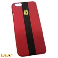 Mobile back cover - iPhone 6 plus - black & Red - ferrari brand