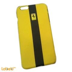 Mobile back cover - iPhone 6 plus - Yellow & Black- ferrari brand