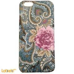 Mobile back cover - for iPhone 6 Plus - decorated with flowers