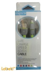 ICONIX Safe charge speed & data cable - grey & green - IXC 15-2