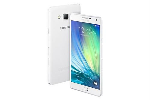 Samsung Galaxy A7 smartphone 16GB white color