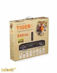 رسيفر تايجر E99 دقة 1080 بكسل فل اتش دي اسود HD E99