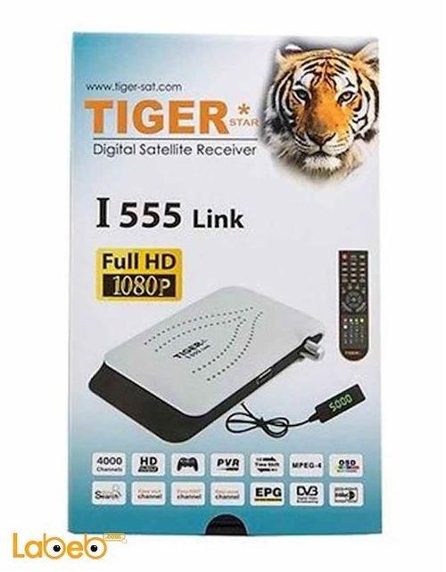 رسيفر تايجر I 555 Link دقة 1080 بكسل ابيض