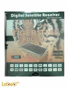 رسيفر تايجر T266 - كامل الوضوح 1080 بكسل - يشمل 3G - اسود