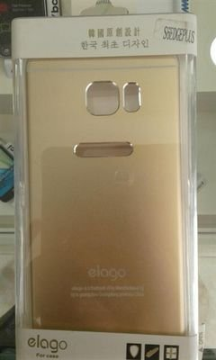 Elago mobile back cover - for galaxy S6 edge plus - gold color