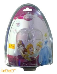 Disney princess mini optical mouse - Pink - USB - DSY MM212