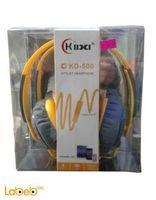 سماعات راس كيبا كبيرة 3.5 ملم لون اصفر KD-500