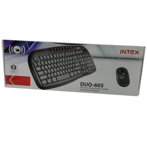 لوحة مفاتيح وفأرة لاسلكيات انتيكس لون اسود
