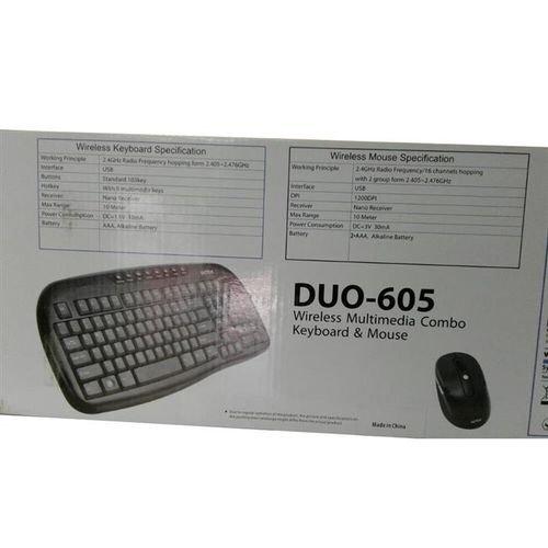 مواصفات لوحة مفاتيح وفأرة لاسلكيات انتيكس اسود DUO 605