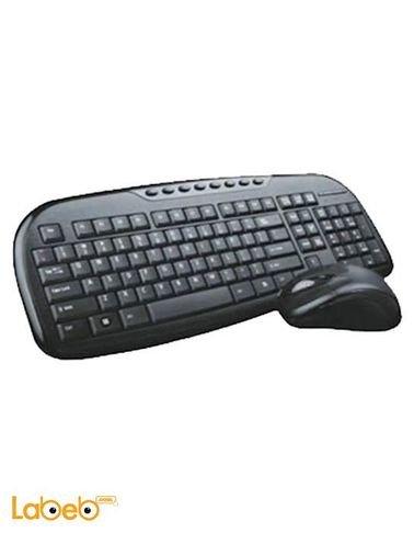 لوحة مفاتيح وفأرة لاسلكيات انتيكس اسود DUO 605