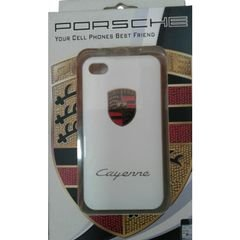 Cayenne Porsche back cover - for Iphone 4 - white color