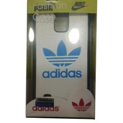 Mobile back cover - for samsung note 4 - white with adidas logo