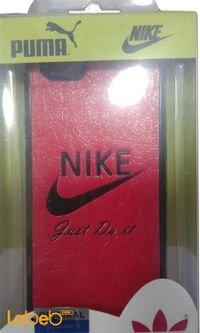 غطاء خلفي لموبايل ايفون 6 احمر مع لوجو نايك