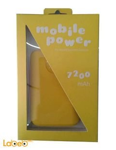Ebai Power bank - Compatible with all devices - 7200mAh - Yellow