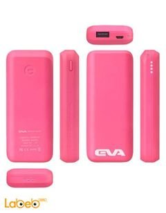 Ebai Power bank - 6000mAh - Pink - EVA-6000