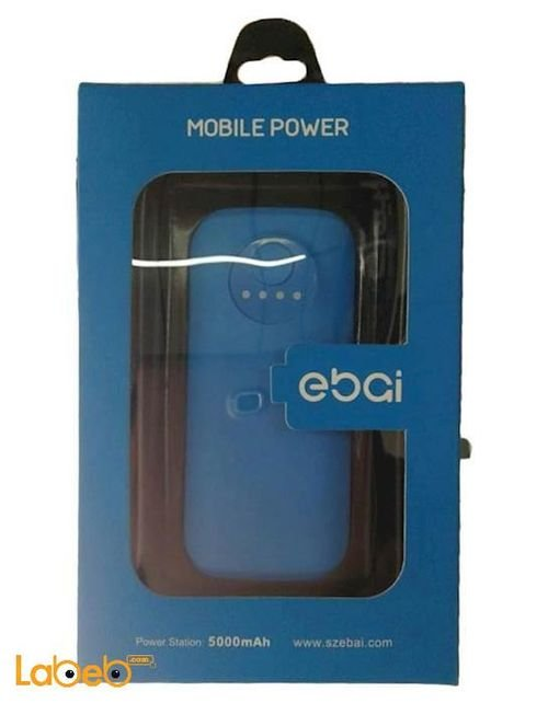 Ebai Power bank Compatible with all devices 5000mAh Blue