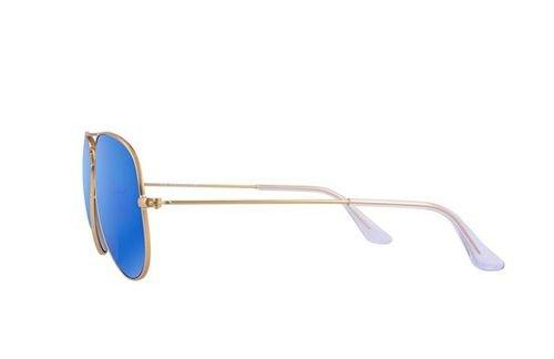 نظارات شمسية ريبان أصلية اطار ذهبي عدسة زرقاء RB 3025