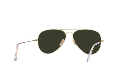 نظارات شمسية ريبان أصليه اطار ذهبي عدسة ذهبية RB 3025