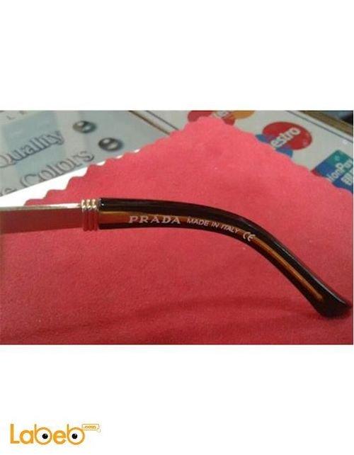 Copy Prada sunglasses Black frame Brown lenses D1277/S model