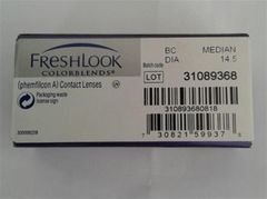 Freshlook colorblends contact lenses - median 14.5  - monthly lenses