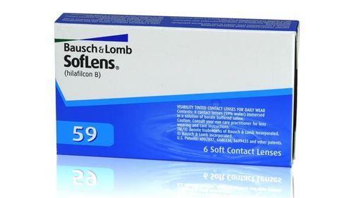 عدسات لاصقة طبية - Bausch & Lomb -سوفلينس 59 - 3 ازواج - ارتداء يومي