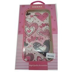 Cobra Mobile cover - for Huawei P8lite - Pink hearts Design