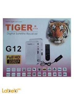 رسيفر تايجر G12 - هارد ديسك - USB - دقة 1080 بكسل - 4000 قناة